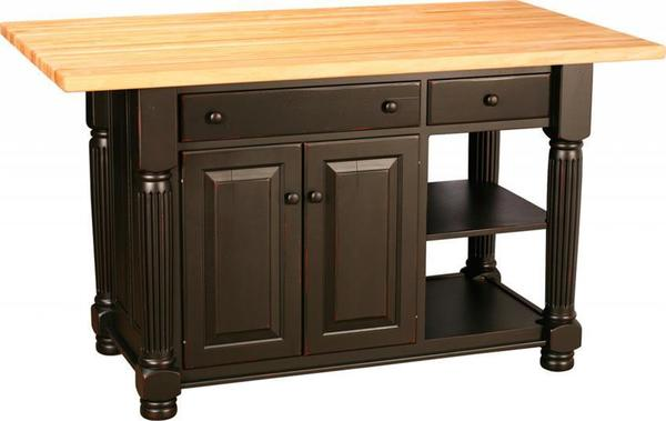 Amish Kitchen Island with Turned Legs