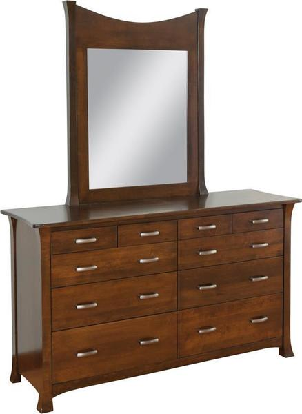 Amish Meadow Brook Dresser with Optional Mirror