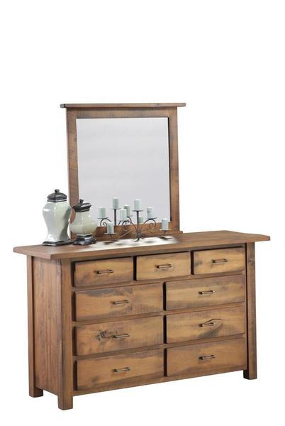 Amish Leihley Hill Rustic Dresser with Optional Mirror