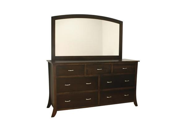 Amish Cardinal Contemporary Dresser with Optional Mirror
