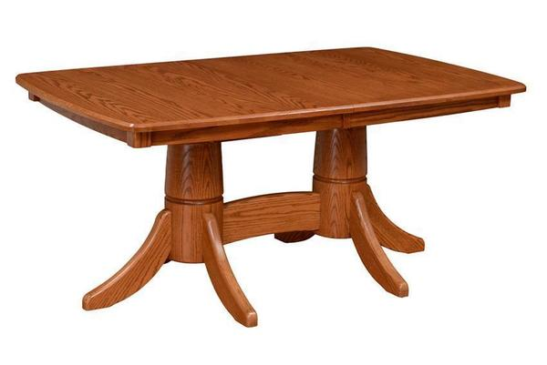 Custom Hardwood Pedestal Dining Table