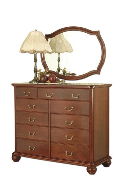 """Amish Myersville 56"""" Dresser with Optional Oval Mirror"""