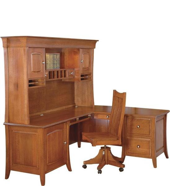 Amish Andrew Complete Corner Desk Unit