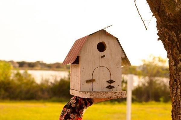 Amish Rustic Barn-Style Bird House - Small