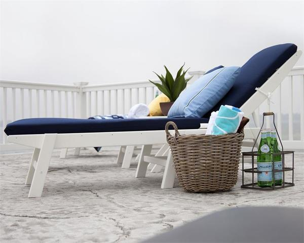 POLYWOOD® Stackable Nautical Chaise Lounge