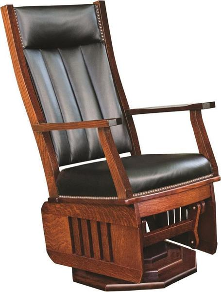 Amish Mission Swivel Glider