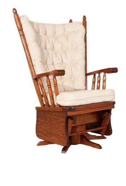 Amish Highback Swivel Glider