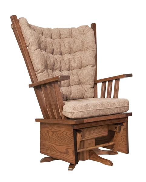 Amish Mission Highback Swivel Glider