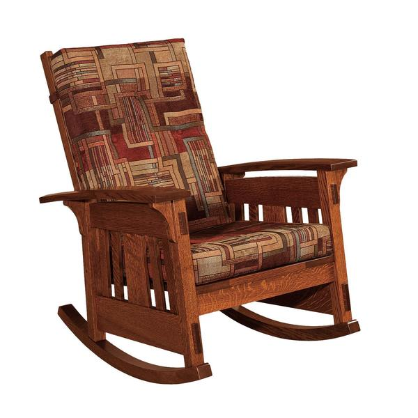 Amish McCoy Mission Upholstered Rocking Chair