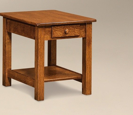 """Amish 22"""" Contemporary End Table"""