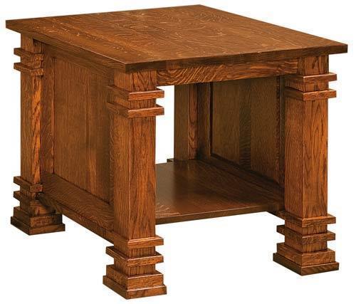 Amish Diamond End Table