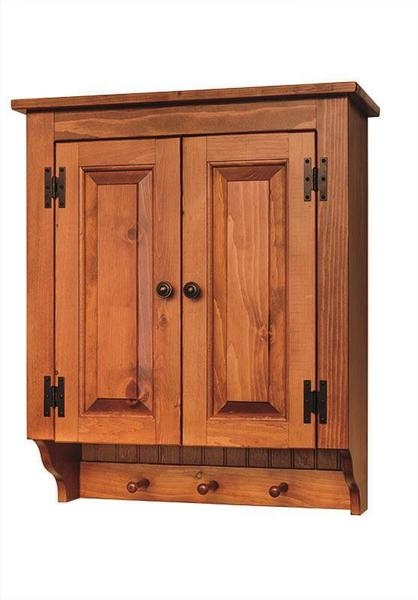 Amish Pine Wall Cabinet