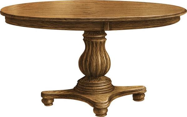 Amish Provence Pedestal Table