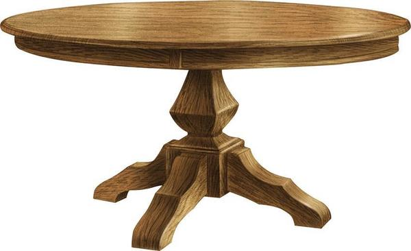 Amish Kingston Single Pedestal Table