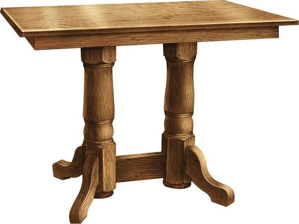 Amish Valley View Double Pedestal Pub Table