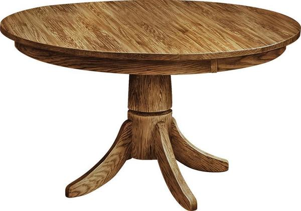 Amish Classic Shaker Single Pedestal Table