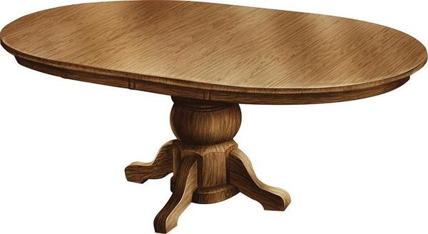 Amish Pot Belly Single Pedestal Table