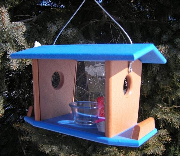 Amish Poly Hanging Bluebird Feeder