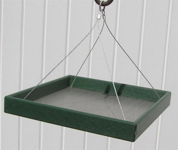 Amish Poly Hanging Tray Bird Feeder