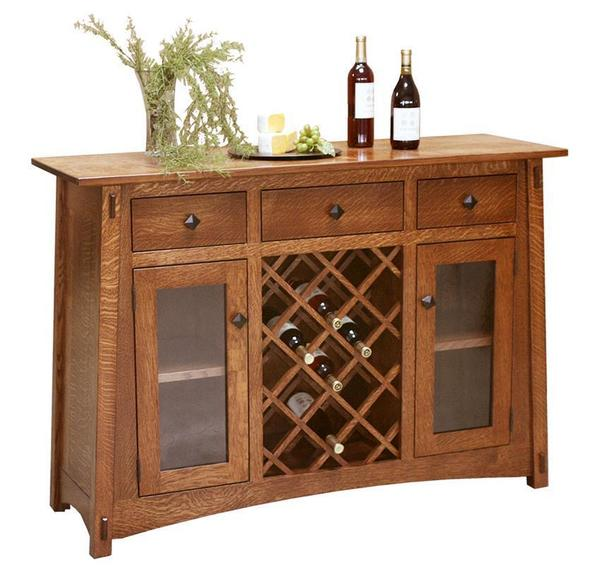 Amish McCoy Buffet with Wine Storage