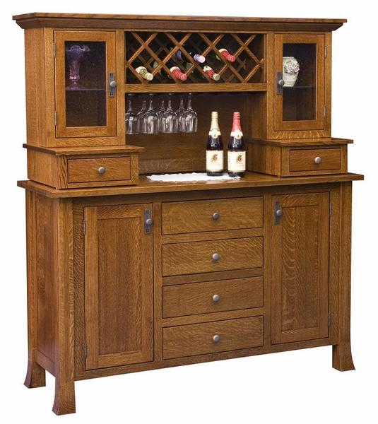 Amish Old Century Wine Buffet with Hutch