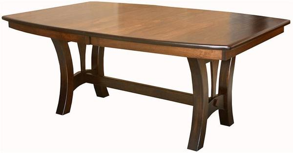 Amish Grand Island Trestle Dining Table