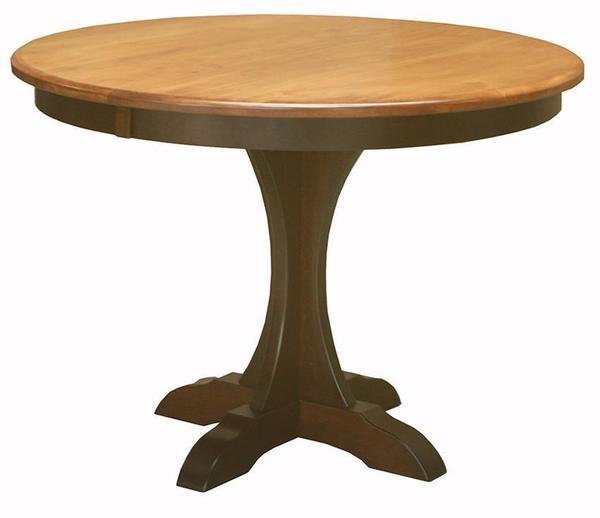 Amish Ellis Pedestal Dining Room Table