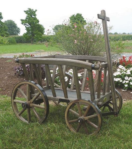 Amish Wooden Goat Cart - Small Rustic