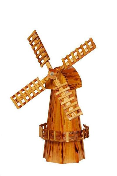 Amish-Made Wooden Windmill - Medium