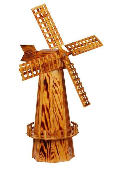 Amish-Made Wooden Windmill - Large