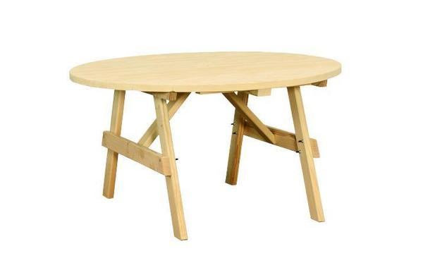 Amish Yellow Pine Wood Round Dining Table