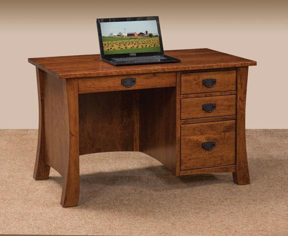 Amish Ashley Flat Top Desk with Optional Hutch Top