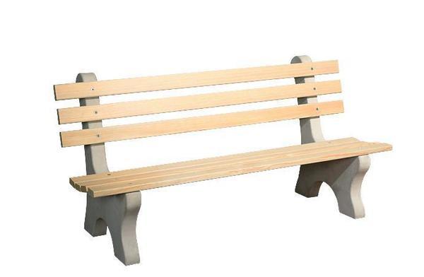 Amish Yellow Pine Wood 6' Park Bench