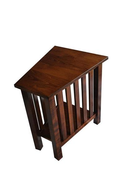 Wedge End Table With Drawer Table Design Ideas