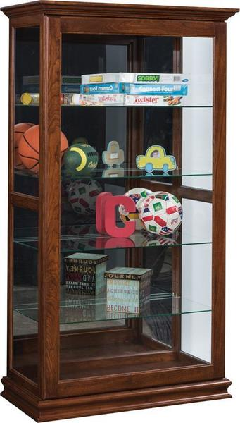 Amish Large Sliding Door Curio Display Case