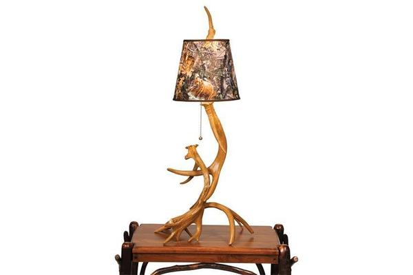 Amish Antler Table Lamp with Shade (Lamp Only)