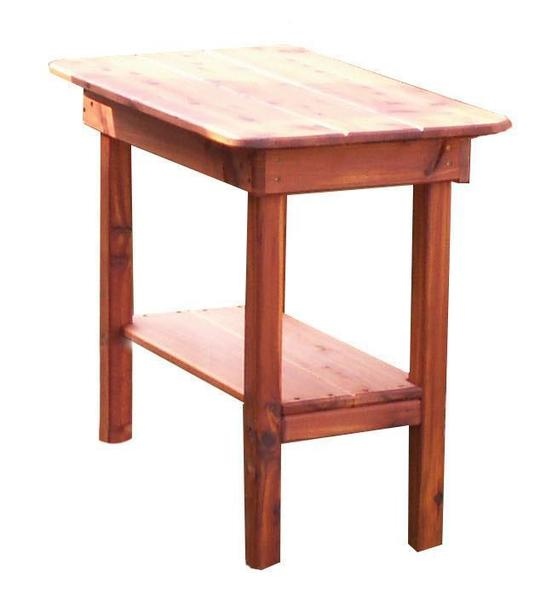 Outdoor Furniture Cedar Wood End Table By Dutchcrafters Amish
