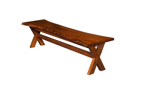 Amish Frontier Live Edge Bench