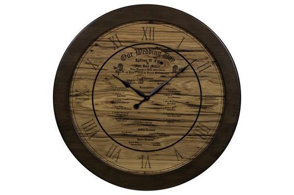 Amish Rustic Wood Wall Clock