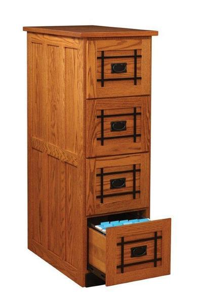 Amish Mission Four Drawer Vertical File Cabinet