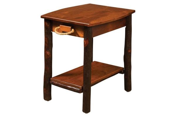 Amish Rustic Hickory End Table