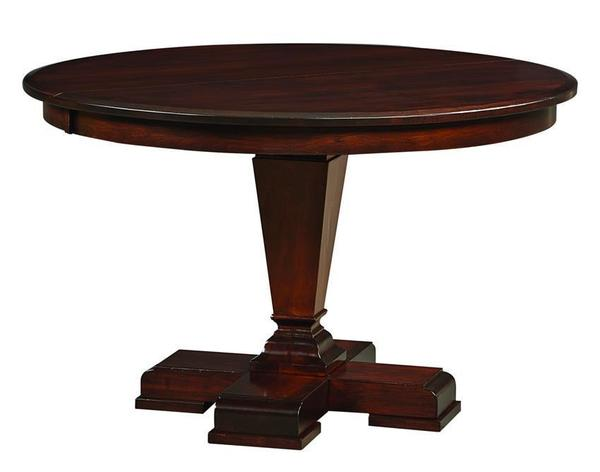 Amish Fulton Single Pedestal Table