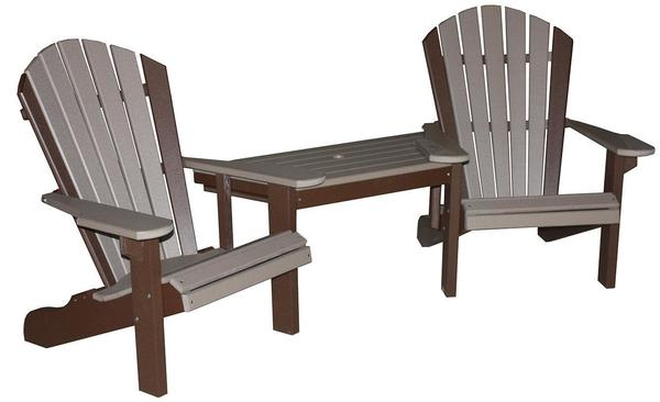 Amish Seaside Beach Poly Composite Tete-A-Tete Set