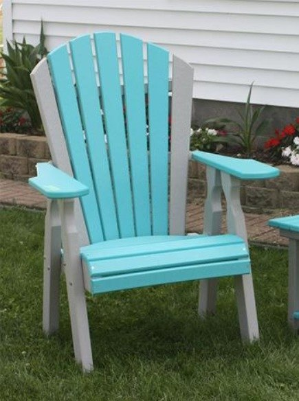 Amish Seaside Poly Composite Adirondack Dining Chair