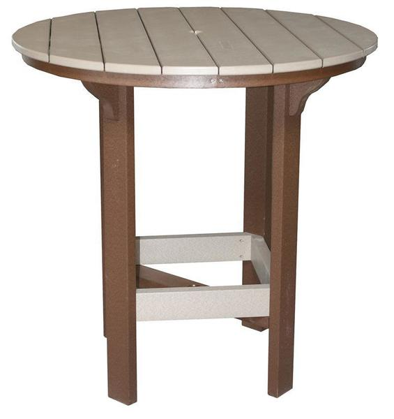 "Amish 42"" Round Poly Bar Table"