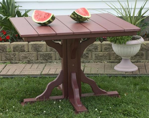 Amish Seaside 39 Inch Square Poly Composite Dining Table