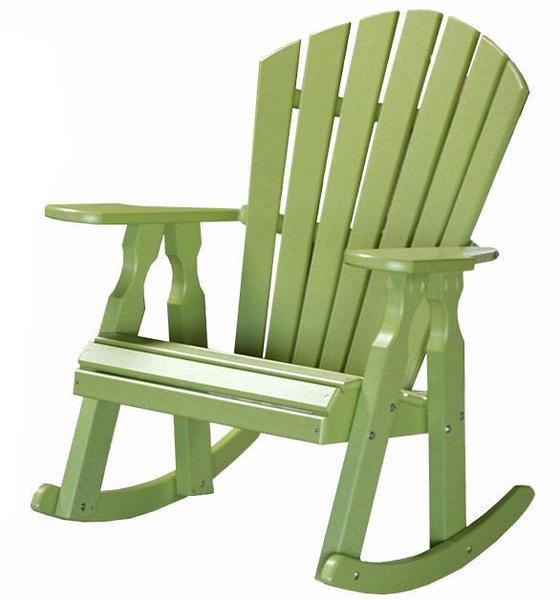 Amish Seaside 22 Inch Poly Composite Adirondack Porch Rocker Chair