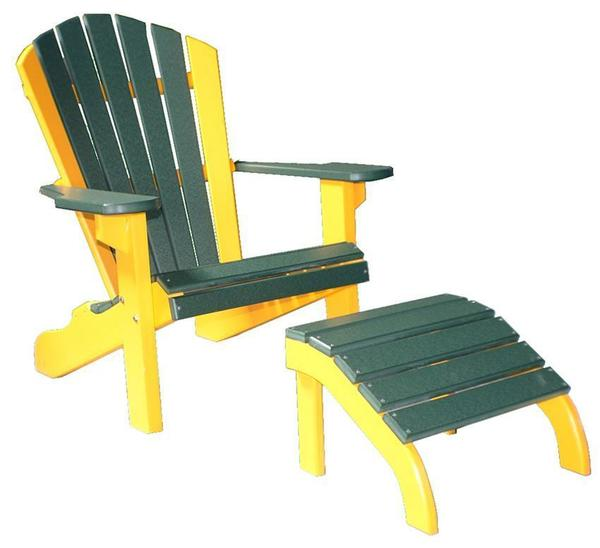 """Amish Classic 22"""" Poly Beach Chair with Optional Ottoman"""