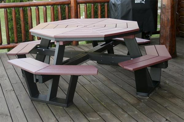 Amish 5' Poly Octagon Picnic Table