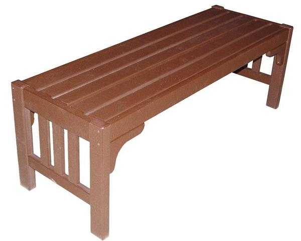 "Amish Poly Mission 52"" Parkside Bench"